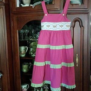 Smocked dragon fly dress